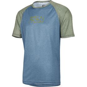 IXS Progressive 8.1 Bike Jersey Shortsleeve Men olive/turquoise